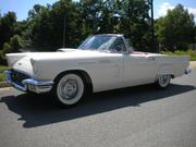 1957 FORD Ford Thunderbird Colonial White with Red Interior